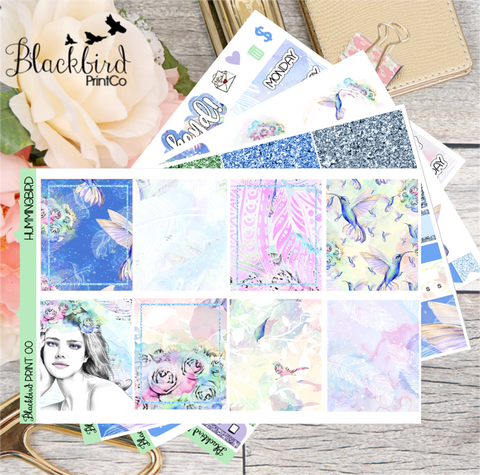 Hummingbird | Planner Sticker Kit for Erin Condren Vertical