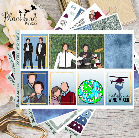 Prestige Worldwide | Exclusive Hand Drawn Planner Sticker Kit for Erin Condren Vertical
