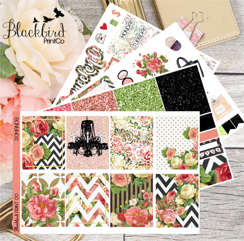Romance | Planner Sticker Kit for Erin Condren Vertical