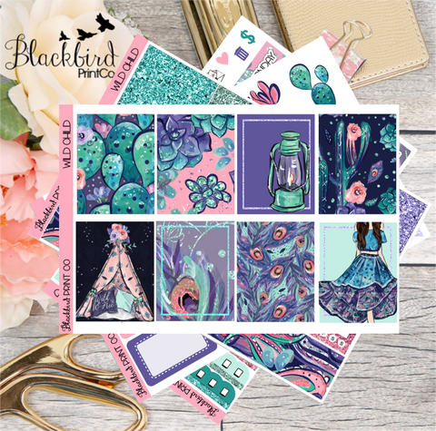 Wild Child | Planner Sticker Kit for Erin Condren Vertical
