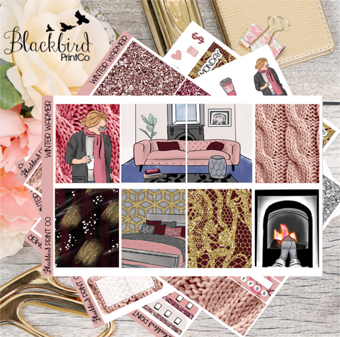 Winter Warmer | Exclusive Hand Drawn Planner Sticker Kit for Erin Condren Vertical