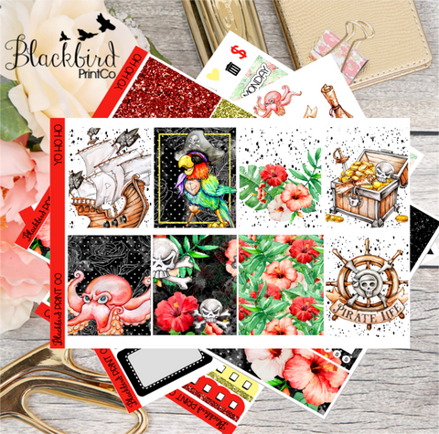 Yo Ho Ho | Planner Sticker Kit for Erin Condren Vertical