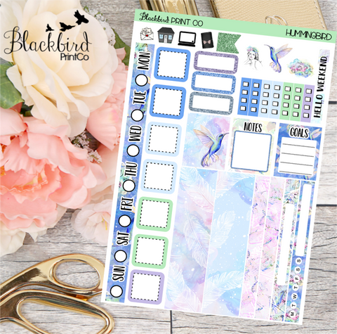 Hummingbird | Planner Sticker Kit for Hobonichi Weeks Planners