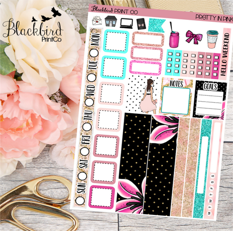 Pretty in Pink | Planner Sticker Kit for Hobonichi Weeks Planners