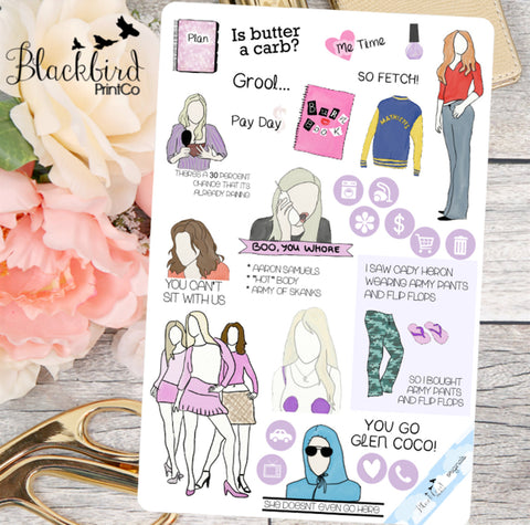 Queen Bees | Sampler Page | Hand Drawn Original Planner Stickers