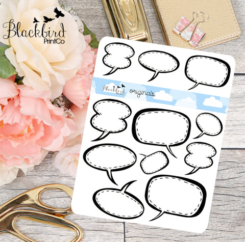 Speech Bubble - Hand Drawn Planner Stickers [DR0003]