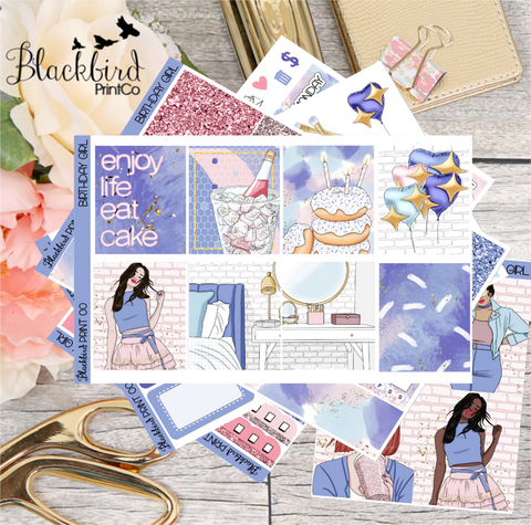 Birthday Girl | Planner Sticker Kit for Erin Condren Vertical
