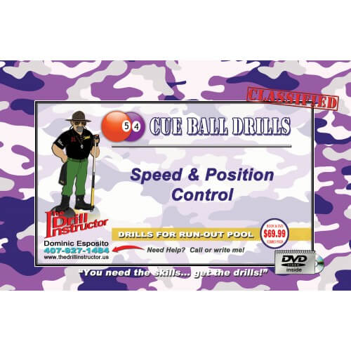 Drill Instructor Cue Ball Drills DVD and Book Set