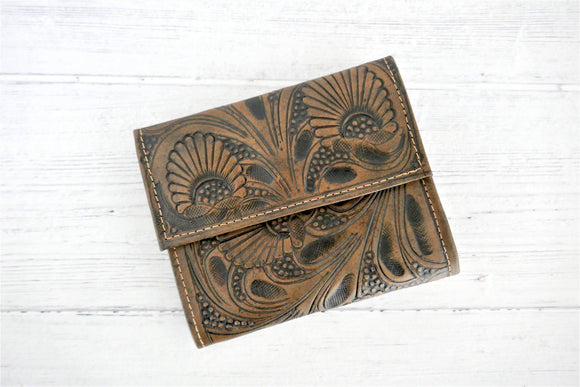 Brown Small Trifold Wallet