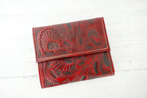 Red Trifold Wallet