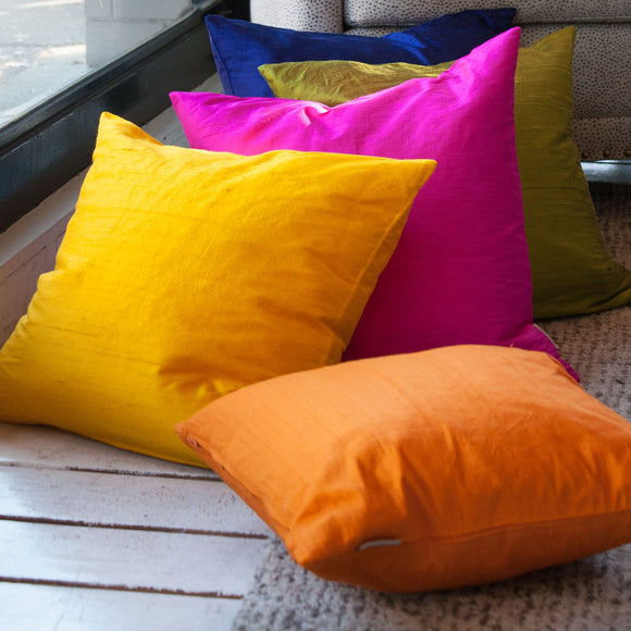 Silk Throw Pillows
