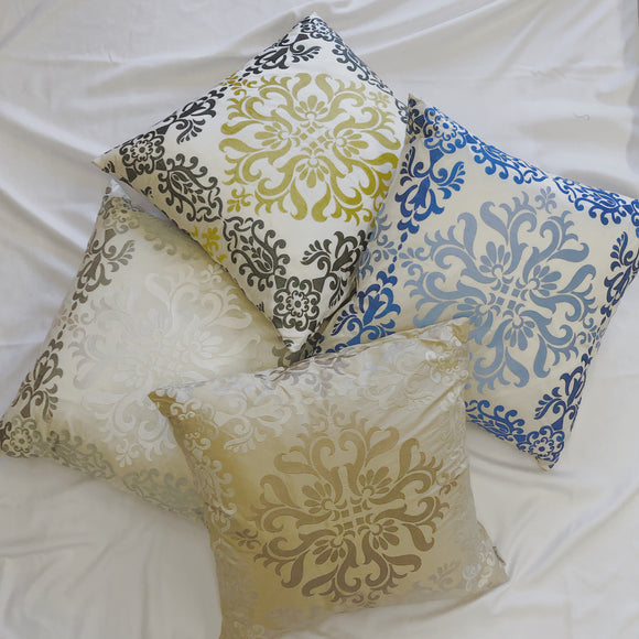 Sumatra Embroidered Silk Pillows