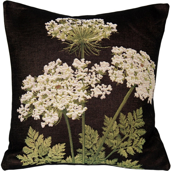 Umbel Floral French Tapestry Throw Pillow 19x19