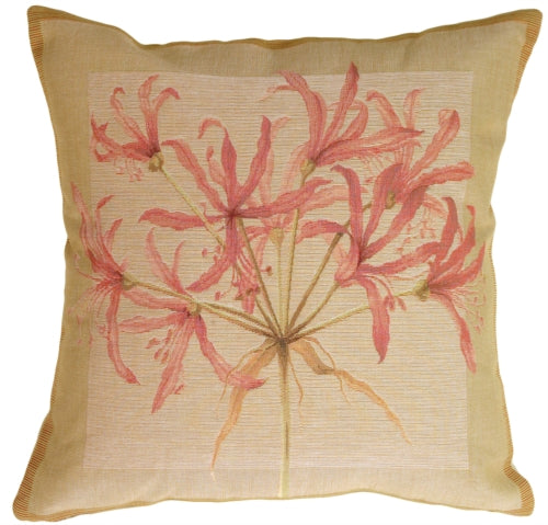 Agapanthus Pink Flower Pillow