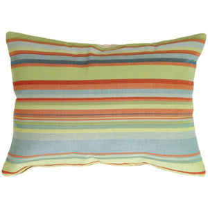 Tropical Stripes Rectangle Pillow