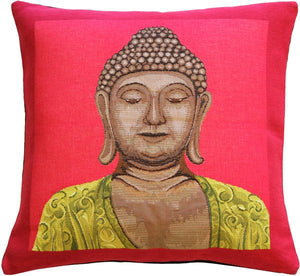 Buddha in Pink French Tapestry Throw Pillow
