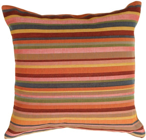 Multicolor Bold Stripes Pillow