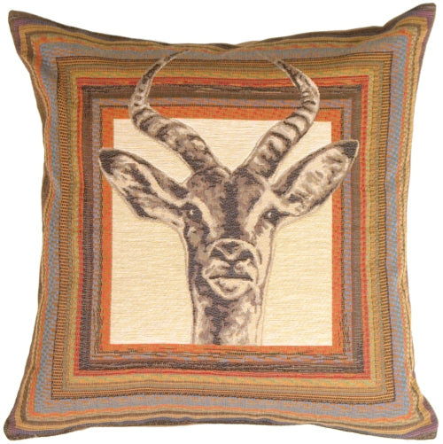 Antelope Tapestry Throw Pillow