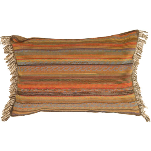 Multicolor Bold Stripes Rectangle Pillow