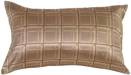 Windows in Taupe Silk Accent Pillow