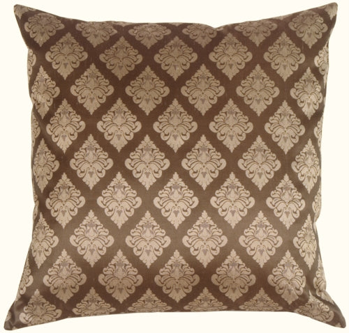 Diamond Square in Taupe Silk Accent Pillow