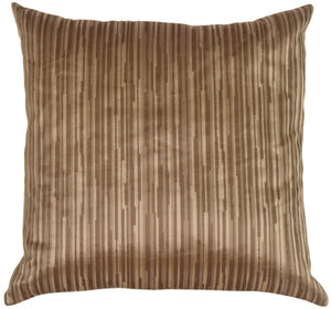 Horizon in Taupe Silk Accent Pillow