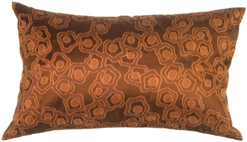 Chain in Copper Orange Silk Accent Pillow