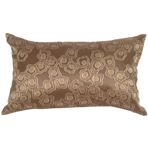 Chain in Taupe Silk Accent Pillow