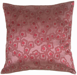 Chain in Plumberry Silk Square Accent Pillow