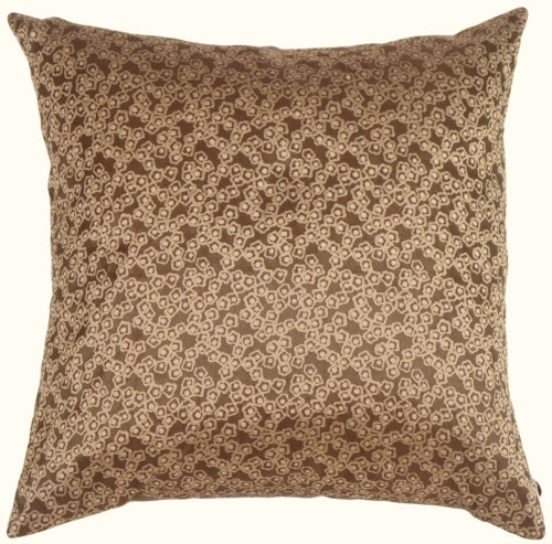 Fine Chain Taupe Silk Accent Pillow