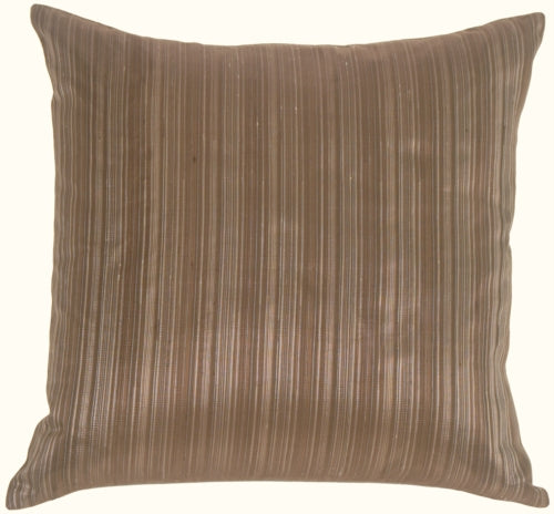 Fine Stripe in Silver Blue Silk Accent Pillow