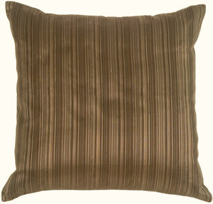 Fine Stripe in Taupe Silk Accent Pillow