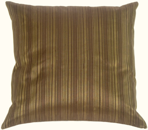 Fine Stripe in Leaf Green Silk Accent Pillow