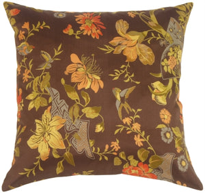Silk Garden in Espresso Accent Pillow