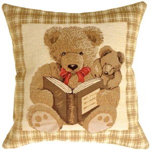 Tapestry Story Time Teddy Pillow