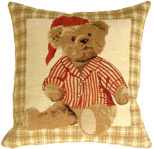 Tapestry Sleepy Time Teddy Pillow