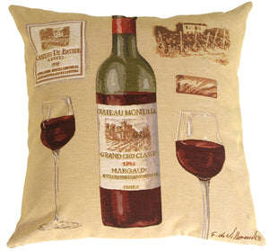 Fabrice de Villeneuve Red Wine Pillow