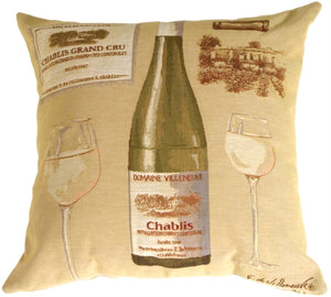 Fabrice de Villeneuve White Wine Pillow