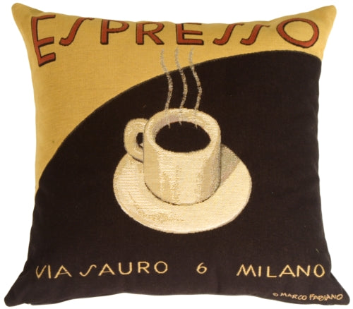 Marco Fabiano Collection Espresso Coffee Pillow