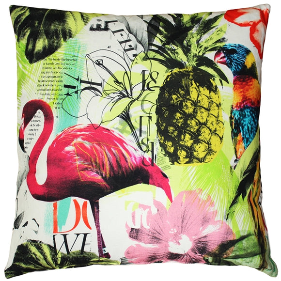 Tropical Oasis Throw Pillow 24x24
