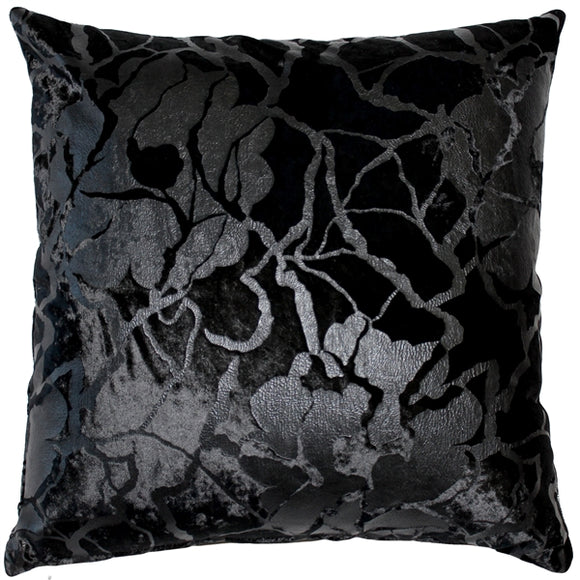 Cicero Black Throw Pillow 20x20