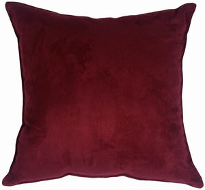 Passion Suede - Wine Pillow