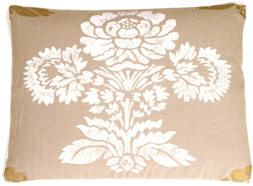 Dreamy Damask Linen Throw Pillow