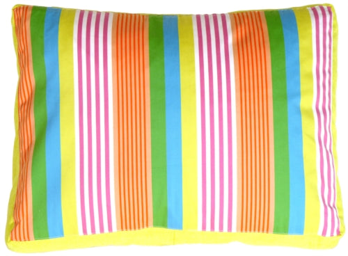 Electric Lemon Stripes Throw Pillow