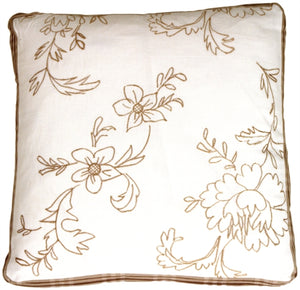 Swiss Flower Box Throw Pillow