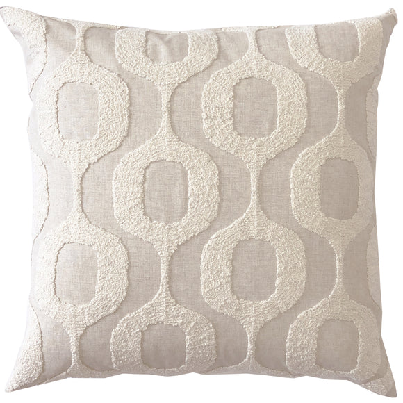 PILLOW DECOR Top Knots Natural Textured Throw Pillows