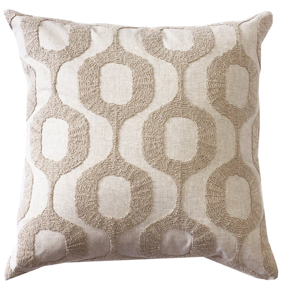 Pillow Décor Top Knots Light Brown Textured Throw Pillows