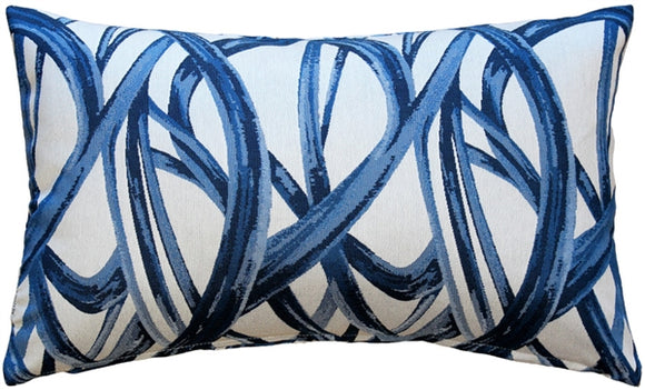 Flair 12x20 Blue Throw Pillow