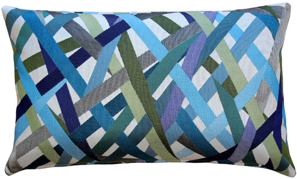 Streamline Blue 12x20 Throw Pillow