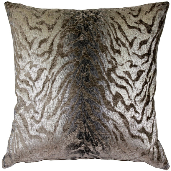 Ruffino Mocha Chenille Throw Pillow 24x24